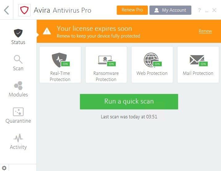 Resultado de imagen de Avira Antivirus Pro