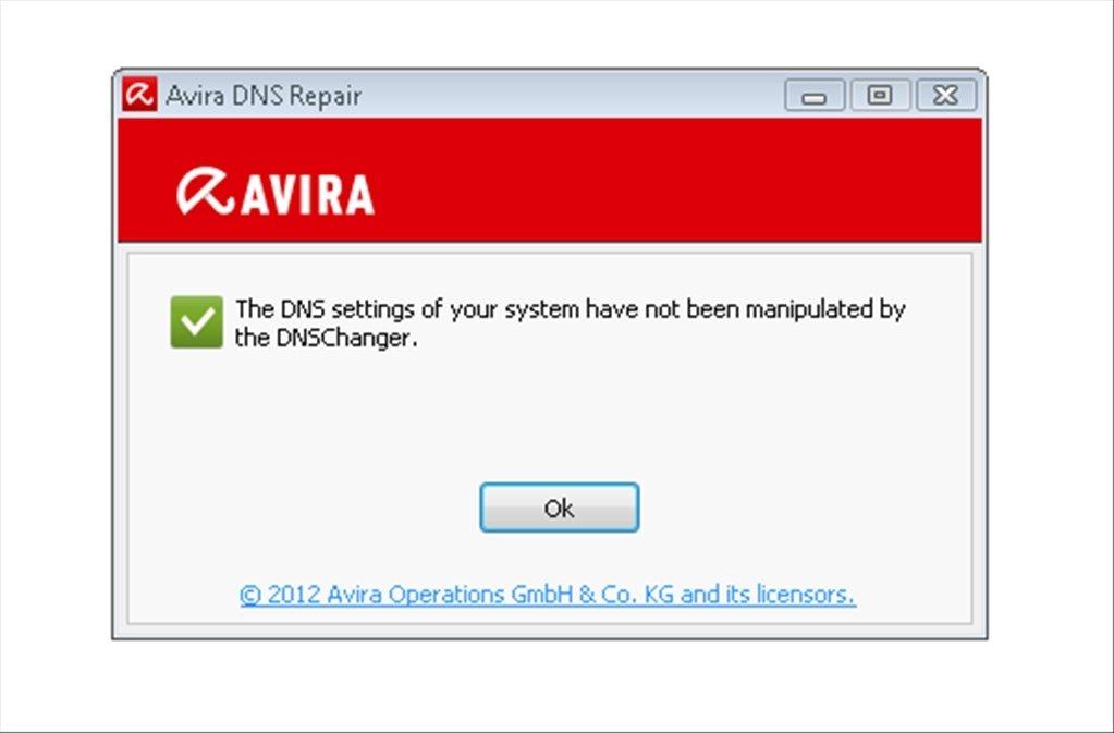 Avira DNS Repair image 2