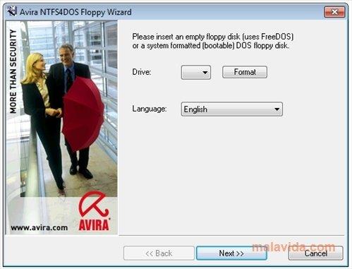 Avira NTFS4DOS image 2