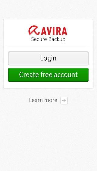 Avira Secure Backup iPhone image 5