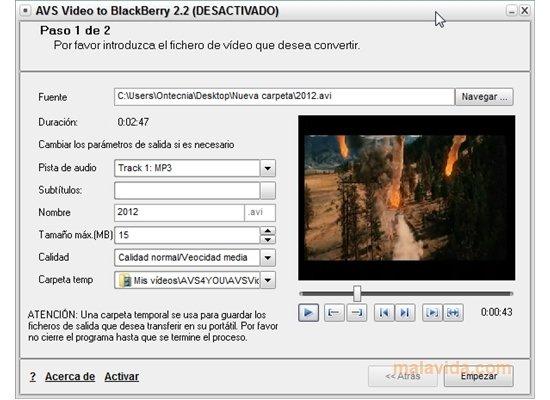 AVS Video to BlackBerry image 4
