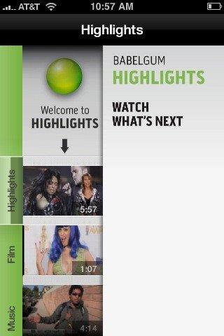 Babelgum iPhone image 5