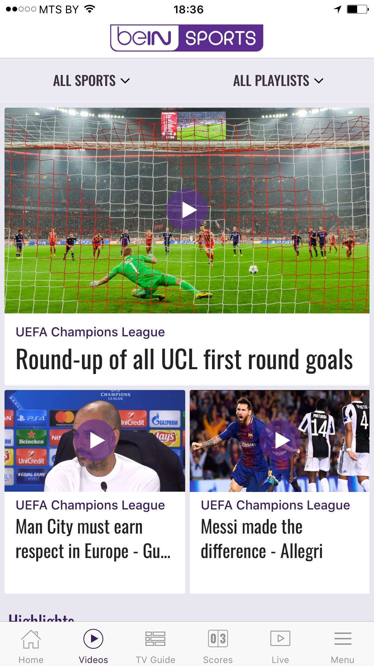 beIN SPORTS - Download for iPhone Free