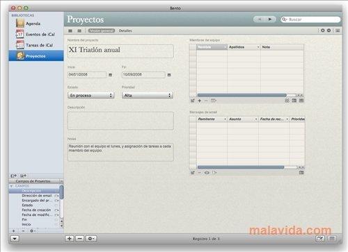 Elegant organizer and database creation app