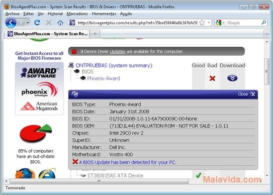 BIOS Agent Plus 2 2019 0 31 - Download for PC Free
