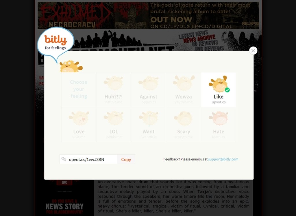 Bitly Feelings Webapps image 4