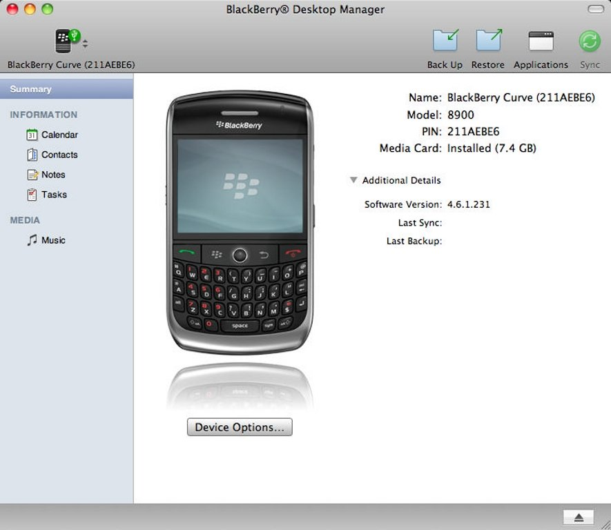 Rim blackberry device manager download.