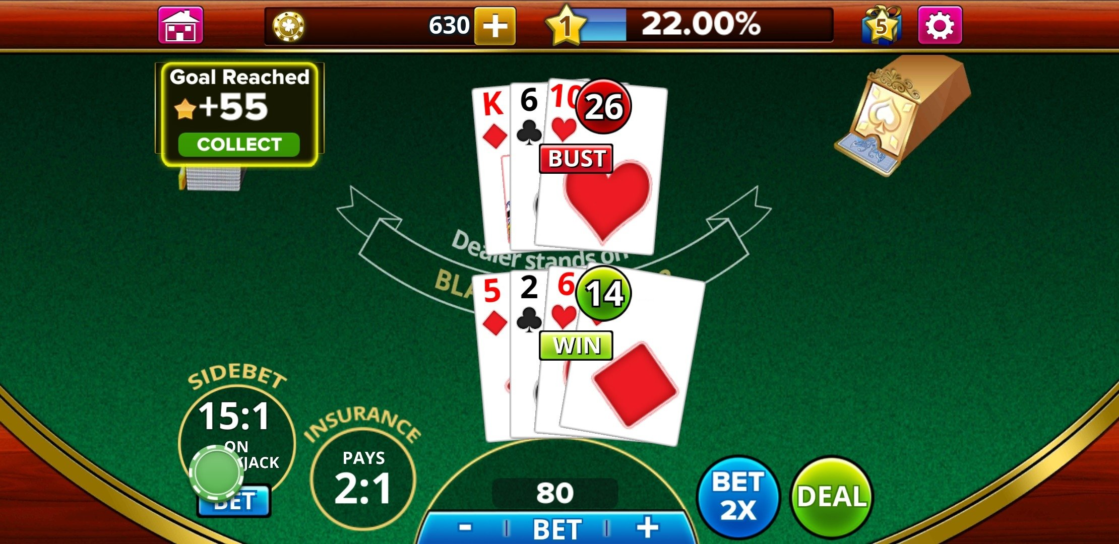 Blackjack 21 Android image 5