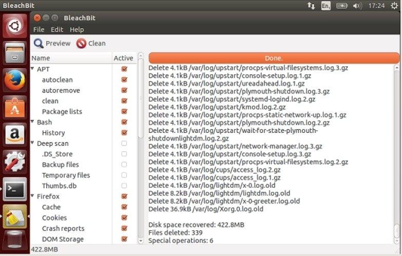 BleachBit Linux image 2