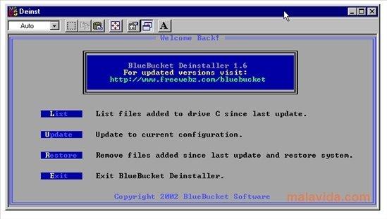 BlueBucket Deinstaller image 2