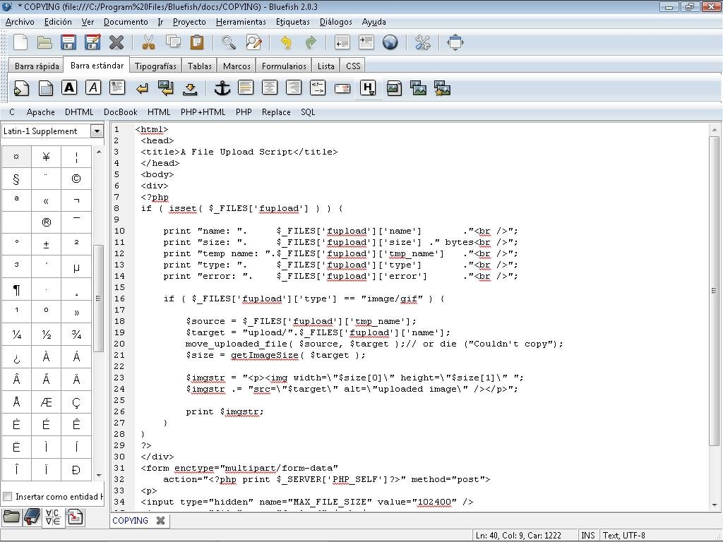 Bluefish editor; php editor; php editor for linux | ciscofriend's blog.