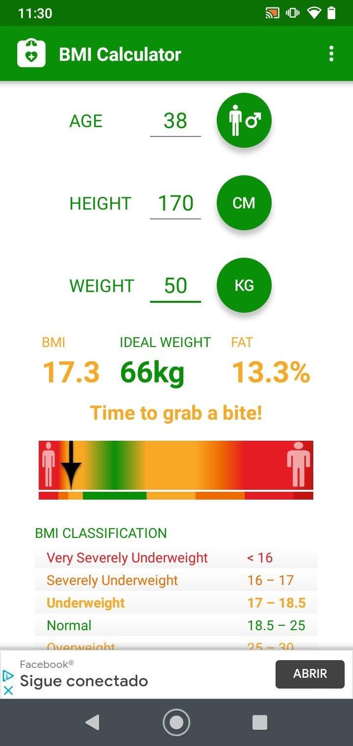 BMI Calculator 20.200   Download für Android APK Kostenlos