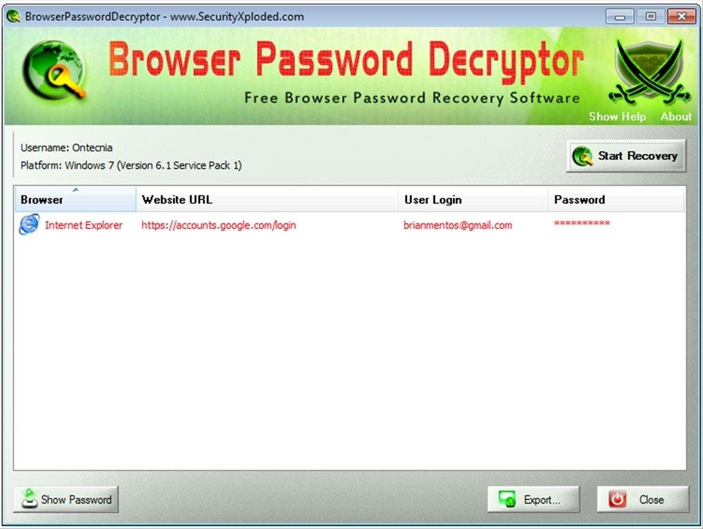Browser Password Decryptor image 3