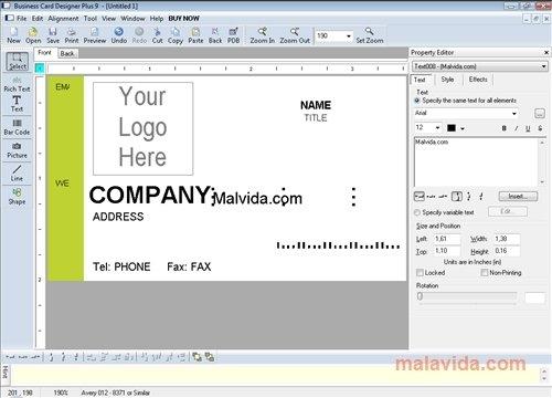 Business Card Designer image 4