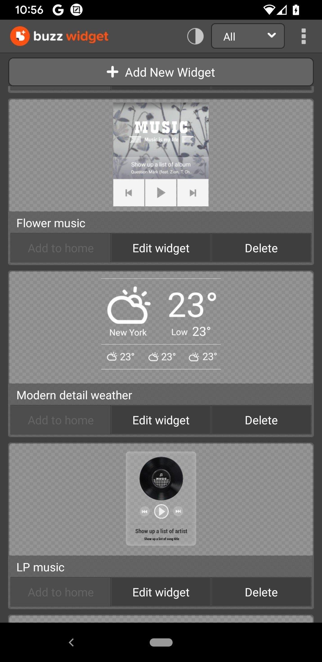 download buzz launcher widget apk
