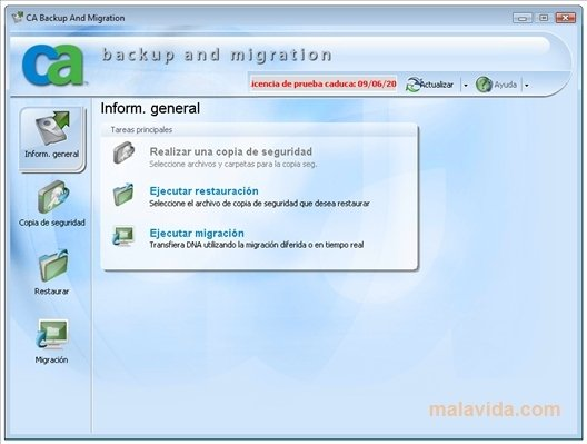 CA Backup and Migration image 4