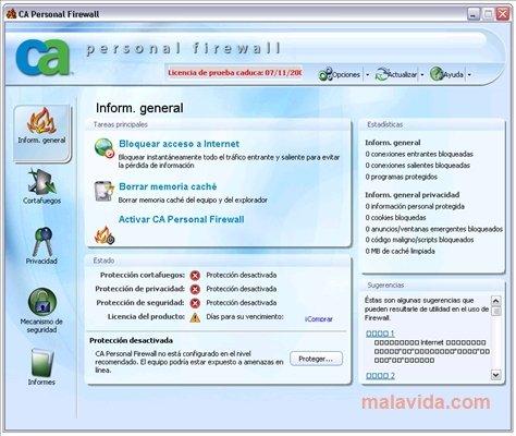 CA Personal Firewall