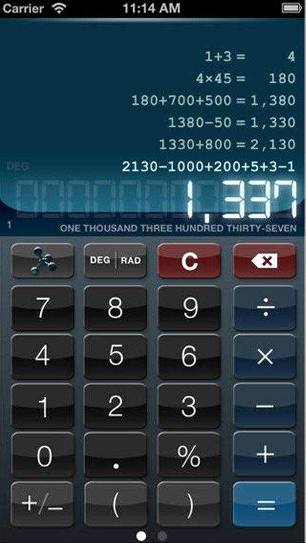 Calculatrice HD+ iPhone image 5