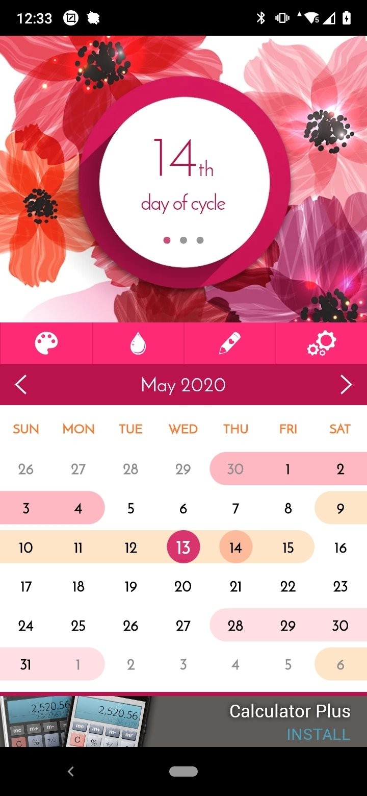 Calendrier des règles Android image 5