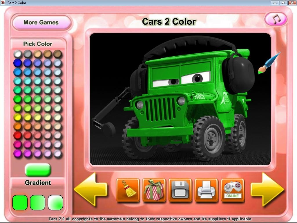Download Cars 2 Color 1.0 for PC - Free