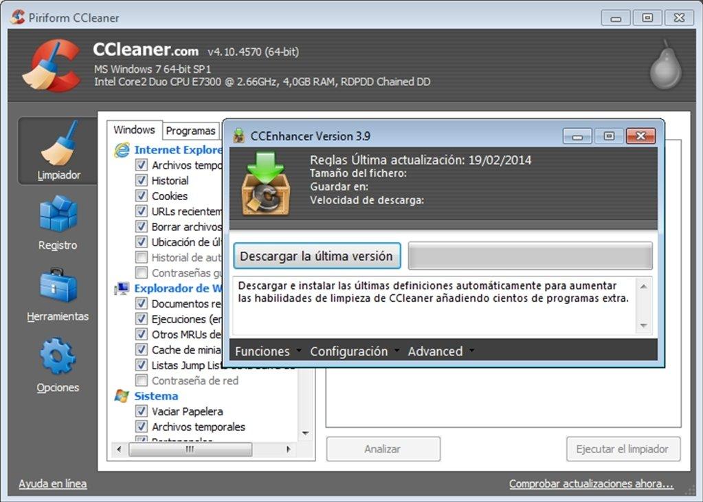 ccleaner download für windows 7
