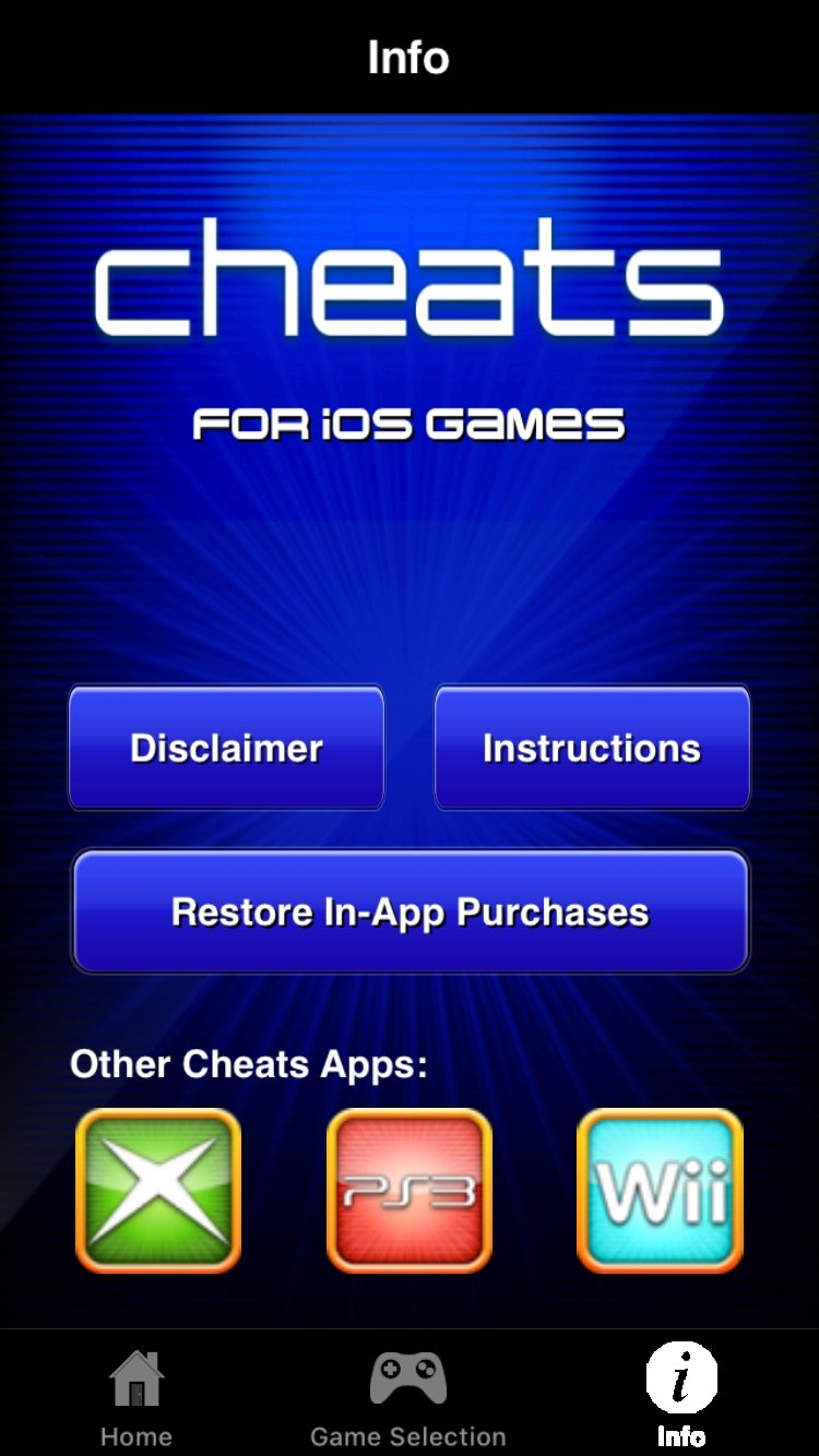cheats mobile cheats for ios games 1 2 iphone用ダウンロード無料