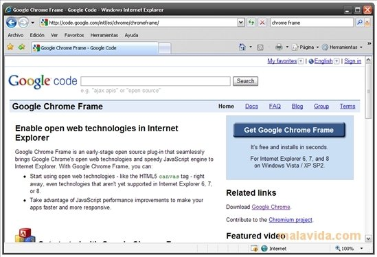 Chrome Frame 15 0 874 121 - Download for PC Free