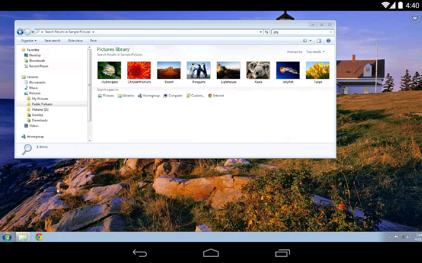 descargar chrome remote desktop apk