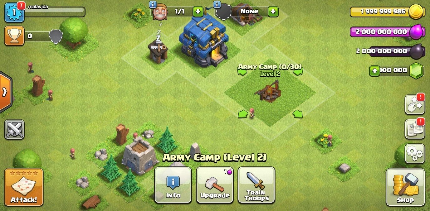 clash of clans versi lama