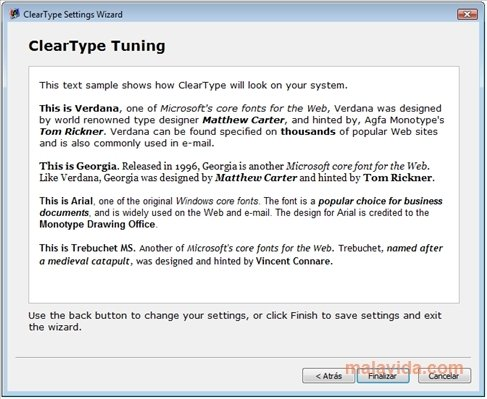 ClearType Tuner - Download for PC Free
