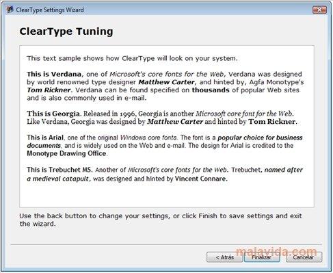 ClearType Tuner - Descargar para PC Gratis