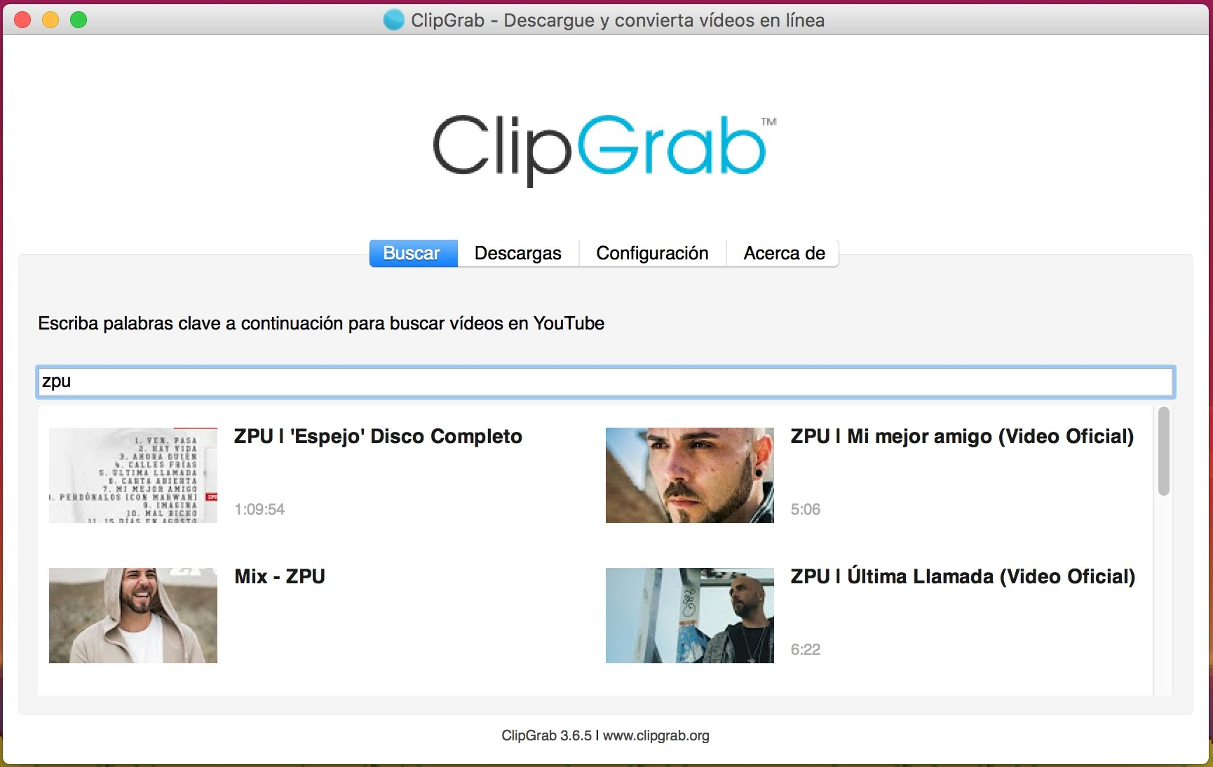 ClipGrab 3 8 2 - Download for Mac Free