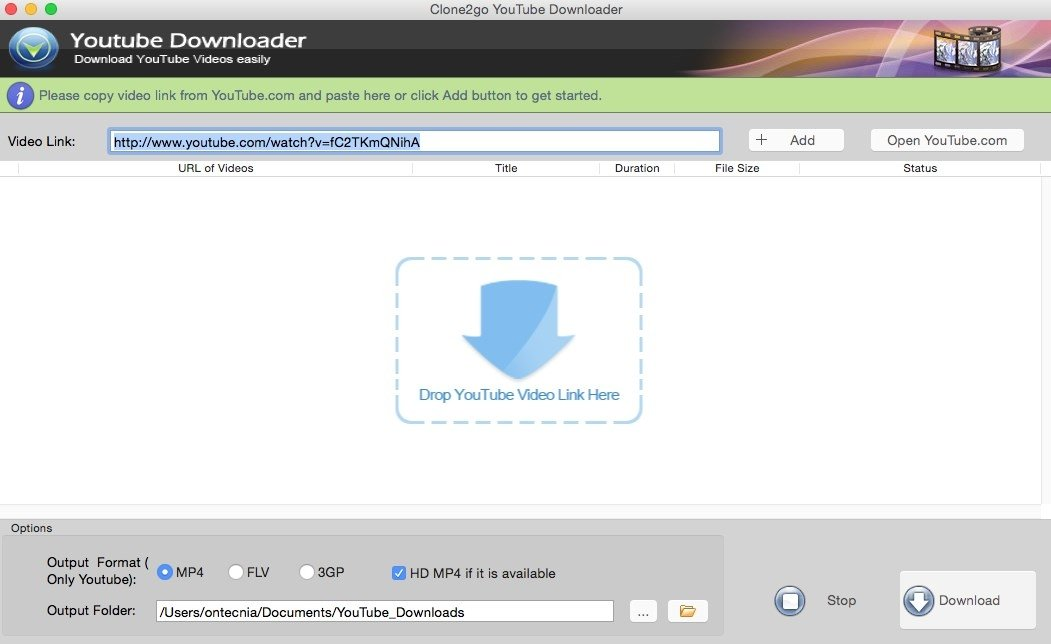 Clone2Go YouTube Downloader Mac image 4