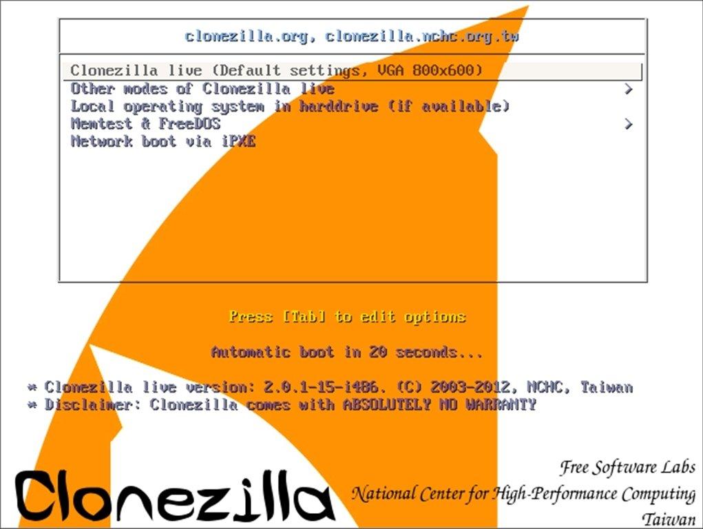 Clonezilla image 4