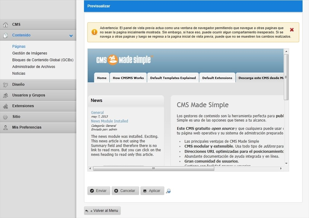 CMS Made Simple 1.11.6 - Download für PC Kostenlos