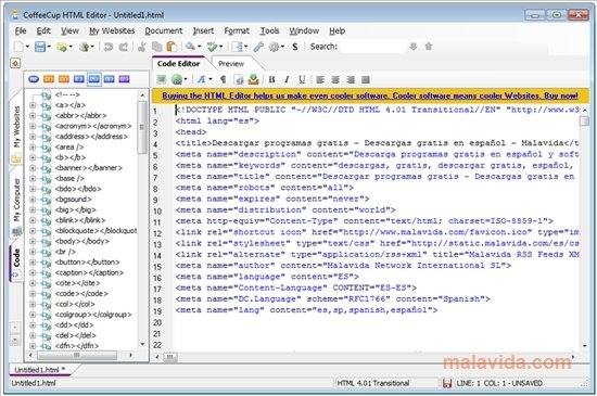 CoffeeCup HTML Editor 16 1 808 - Download for PC Free