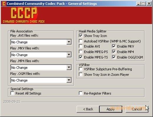 codec pack cccp