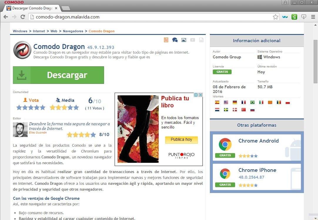 navigateur comodo dragon gratuit