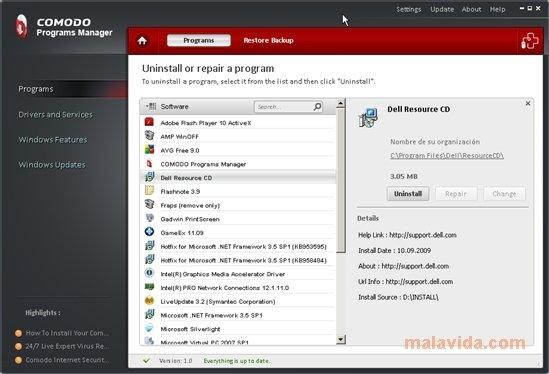 Comodo Programs Manager image 5