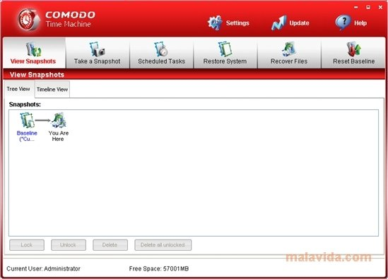 Comodo Time Machine image 5