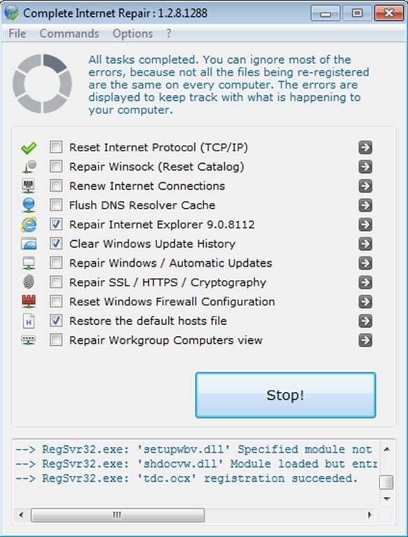 Complete Internet Repair 5 2 3 3999 - Download for PC Free