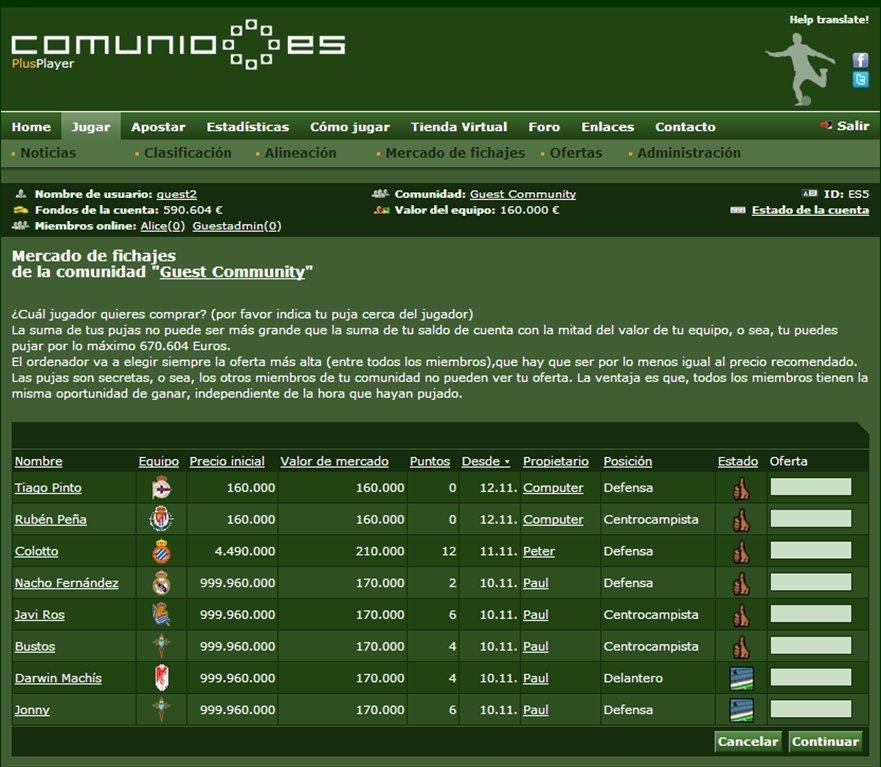 Comunio Webapps image 4