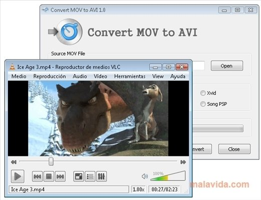 video converter mov to avi free download