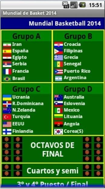 Coupe du monde 2014 de basket Android image 4