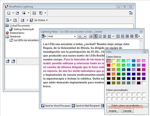 Corel WordPerfect Lightning image 4