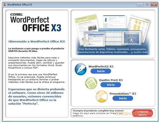 Quattro pro is now wordperfect: download your trial free now.