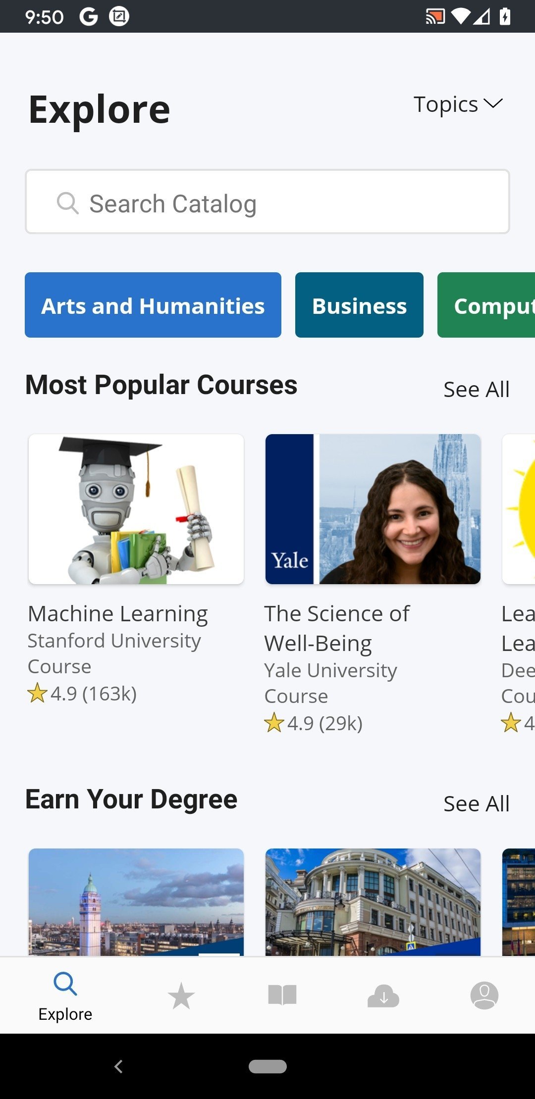 Coursera Android image 4