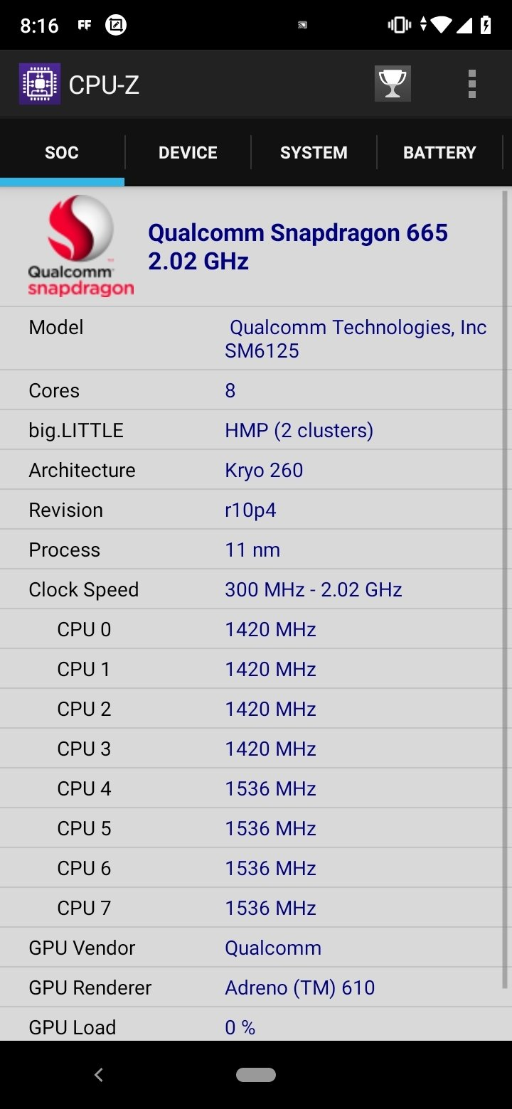 CPU-Z Android image 5