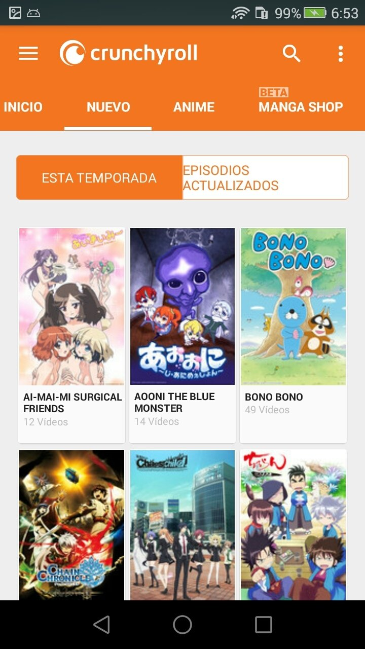 Crunchyroll android