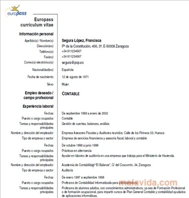 Download Europass Cv - Free